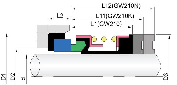 Elastomer Below Mechanica Seals-GW210 a